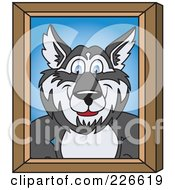 Royalty Free RF Clipart Illustration Of A Husky School Mascot Portrait