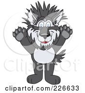 Husky School Mascot With Spiked Hair