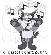 Husky School Mascot Singing