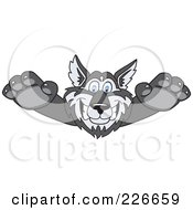 Royalty Free RF Clipart Illustration Of A Husky School Mascot Lurching Forward by Toons4Biz