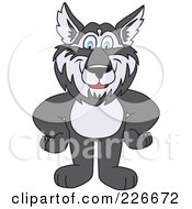 Royalty Free RF Clipart Illustration Of A Husky School Mascot Standing With His Hands On His Hips by Toons4Biz