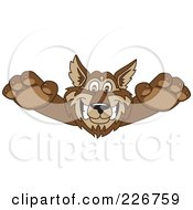 Royalty Free RF Clipart Illustration Of A Wolf School Mascot Lurching Forward