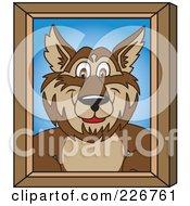 Wolf School Mascot Portrait