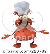Royalty Free RF Clipart Illustration Of A 3d Rodney Germ Chef Shrugging