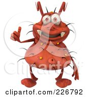 Royalty Free RF Clipart Illustration Of A 3d Rodney Germ Holding A Thumb Up