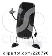 Royalty Free RF Clipart Illustration Of A 3d Tire Character With An Idea by Julos