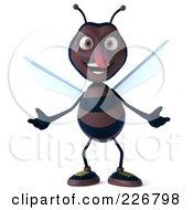 3d Skeeter Character Welcoming