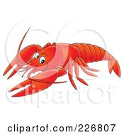 Royalty Free RF Clipart Illustration Of A Lobster