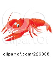 Royalty Free RF Clipart Illustration Of An Airbrushed Lobster by Alex Bannykh
