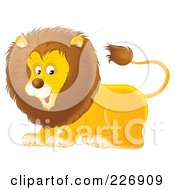Royalty Free RF Clipart Illustration Of A Cute Lion