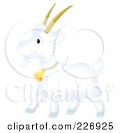Royalty Free RF Clipart Illustration Of A Cute White Goat by Alex Bannykh