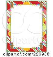 Royalty Free RF Clipart Illustration Of A Frame Of Peppermint Stripes Citrus Candy And Gingerbread Cookies by Maria Bell