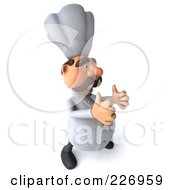 Royalty Free RF Clipart Illustration Of A 3d Chef Man Holding Two Thumbs Up