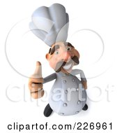 Royalty Free RF Clipart Illustration Of A 3d Chef Man Holding A Thumb Up
