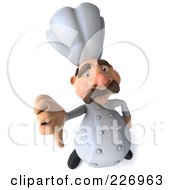 Royalty Free RF Clipart Illustration Of A 3d Chef Man Holding A Thumb Down by Julos