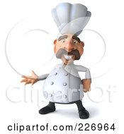 Royalty Free RF Clipart Illustration Of A 3d Chef Man Gesturing by Julos