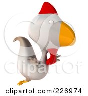 Royalty Free RF Clipart Illustration Of A 3d White Chicken Flying