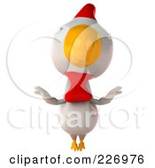 Royalty Free RF Clipart Illustration Of A 3d White Chicken Flapping His Wings