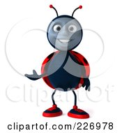 Royalty Free RF Clipart Illustration Of A 3d Ladybug Facing Front And Gesturing by Julos