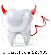 Royalty Free RF Clipart Illustration Of A 3d Devil Tooth Character by Julos