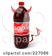 Royalty Free RF Clipart Illustration Of A 3d Devil Soda Bottle