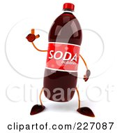 Royalty Free RF Clipart Illustration Of A 3d Soda Bottle Facing Front And Gesturing