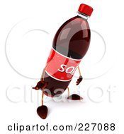 Royalty Free RF Clipart Illustration Of A 3d Soda Bottle Facing Right And Pouting