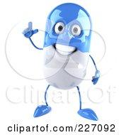 3d Blue Pill With An Idea