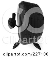 Royalty Free RF Clipart Illustration Of A 3d Tire Character Holding A Thumb Up