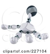 Royalty Free RF Clipart Illustration Of A 3d Open Techno Robot Hand 2