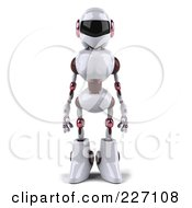 3d Female Techno Robot Facing Front