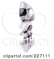 Royalty Free RF Clipart Illustration Of A 3d Female Techno Robot Facing Left by Julos