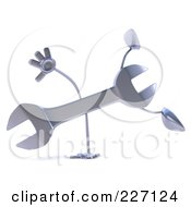 Royalty Free RF Clipart Illustration Of A 3d Wrench Character Doing A Hand Stand