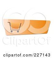Blank Orange Shopping Cart Button