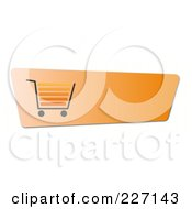 Royalty Free RF Clipart Illustration Of A Blank Orange Shopping Cart Button by oboy