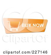 Royalty Free RF Clipart Illustration Of An Orange Buy Now Button With A Shopping Cart