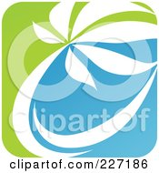 Royalty Free RF Clipart Illustration Of A Green Blue And White Botanical Logo Icon 10