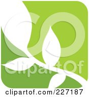 Royalty Free RF Clipart Illustration Of A Green And White Nature Leaf Logo Icon 9 by elena