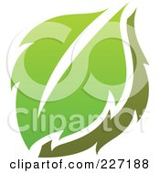 Royalty Free RF Clipart Illustration Of A Green Leaf Logo Icon 2