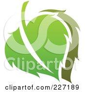 Royalty Free RF Clipart Illustration Of A Green Leaf Logo Icon 8 by elena