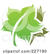 Royalty Free RF Clipart Illustration Of A Green Leaf Logo Icon 13