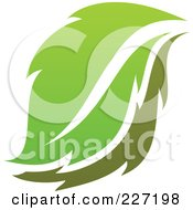 Royalty Free RF Clipart Illustration Of A Green Leaf Logo Icon 10