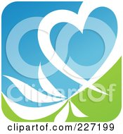 Royalty Free RF Clipart Illustration Of A Green Blue And White Botanical Logo Icon 12