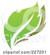 Royalty Free RF Clipart Illustration Of A Green Leaf Logo Icon 9