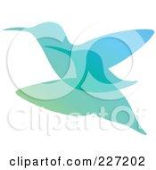 Royalty Free RF Clipart Illustration Of A Gradient Hummingbird Overlay Logo Icon 2 by elena
