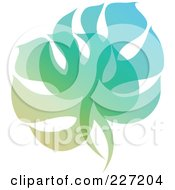 Royalty Free RF Clipart Illustration Of A Gradient Leaf Overlay Logo Icon 4