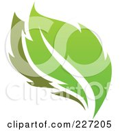 Royalty Free RF Clipart Illustration Of A Green Leaf Logo Icon 11