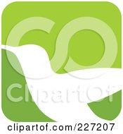 Green And White Hummingbird Logo Icon - 3