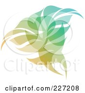 Royalty Free RF Clipart Illustration Of A Gradient Leaf Overlay Logo Icon 2