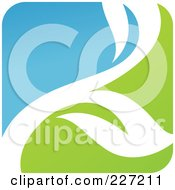 Royalty Free RF Clipart Illustration Of A Green Blue And White Botanical Logo Icon 1